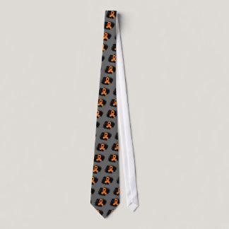 Leukemia Orange Ribbon With Scribble Tie