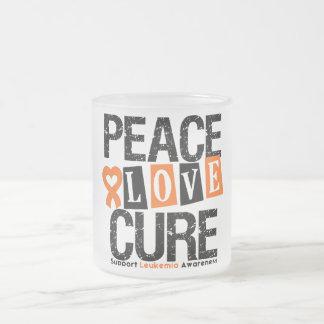 Leukemia Peace Love Cure Mug