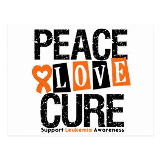 Leukemia Peace Love Cure Post Card