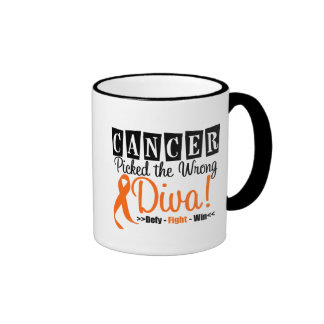 Leukemia Picked The Wrong Diva v2 Coffee Mug