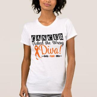 Leukemia Picked The Wrong Diva v2 Shirt
