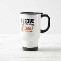 Leukemia Picked The Wrong Diva v2 Travel Mug