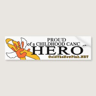 "Leukemia - ""Proud"" Angel Bumper Sticker"
