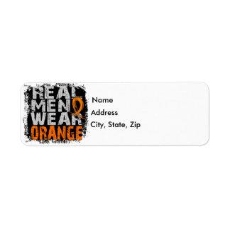 Leukemia Real Men Wear Orange Label