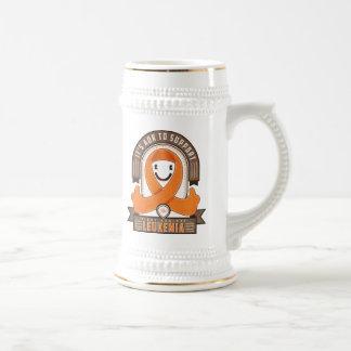 Leukemia - Retro Charity Ribbon - Beer Stein