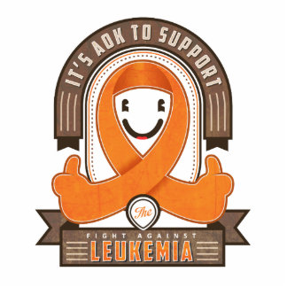 Leukemia - Retro Charity Ribbon - Photo Magnet