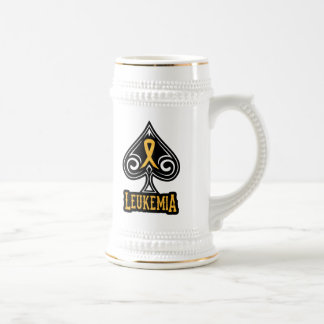 Leukemia Ribbon - Beer Stein - Spades Edition