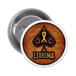 Leukemia Ribbon - Button - Spades Edition