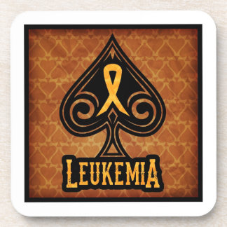 Leukemia Ribbon - Coaster Set - Spades Edition