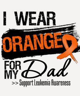 Leukemia Ribbon For My Dad Tshirts