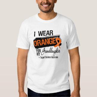 Leukemia Ribbon For My Granddaughter Tee Shirt