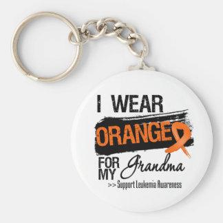 Leukemia Ribbon For My Grandma Key Chains