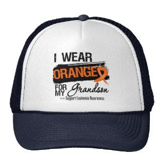 Leukemia Ribbon For My Grandson Mesh Hats