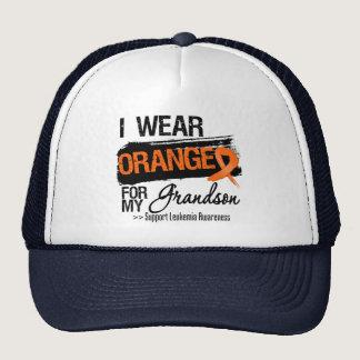 Leukemia Ribbon For My Grandson Trucker Hat