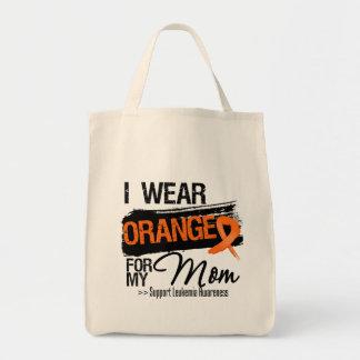 Leukemia Ribbon For My Mom Canvas Bags