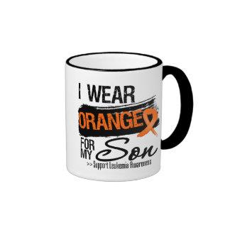 Leukemia Ribbon For My Son Ringer Mug