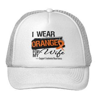 Leukemia Ribbon For My Wife Mesh Hats