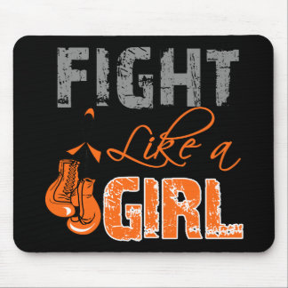 Leukemia Ribbon Gloves Fight Like a Girl Mouse Pads