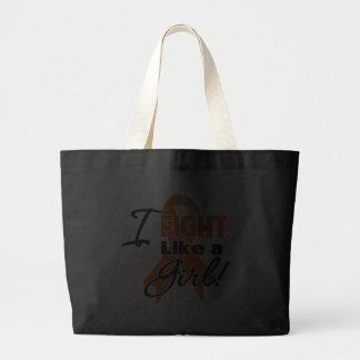 Leukemia Ribbon - I Fight Like a Girl Tote Bags