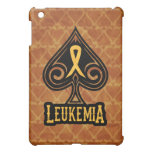 Leukemia Ribbon - iPad Case - Spades Edition