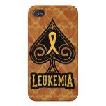 Leukemia Ribbon - iPhone 4 Case - Spades Edition