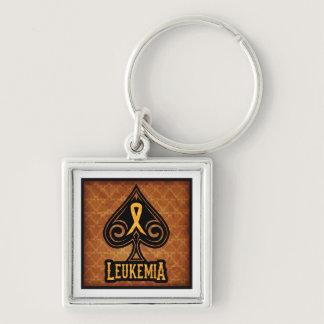 Leukemia Ribbon - Keychain - Spades Edition