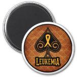 Leukemia Ribbon - Magnet - Spades Edition