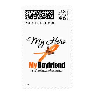Leukemia Ribbon My HERO My Boyfriend Stamps
