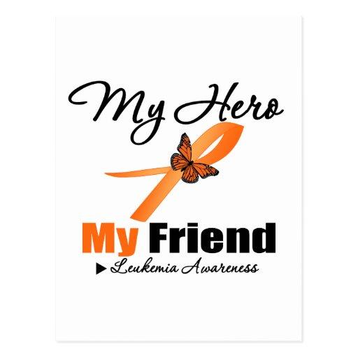 Leukemia Ribbon My HERO My Friend Postcard