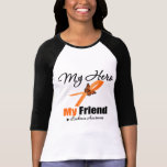 Leukemia Ribbon My HERO My Friend T-shirts