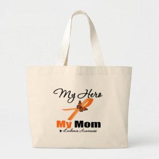 Leukemia Ribbon My HERO My Mom Canvas Bags