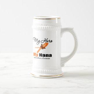 Leukemia Ribbon My HERO My Nana Coffee Mug