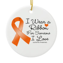 Leukemia Ribbon Someone I Love Ceramic Ornament