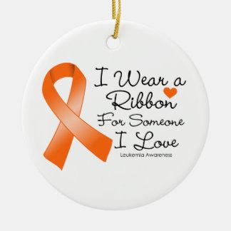 Leukemia Ribbon Someone I Love Ceramic Ornament