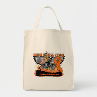 Leukemia Ride For a Cure Canvas Bag