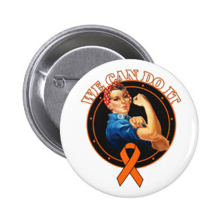 Leukemia - Rosie The Riveter - We Can Do It Button