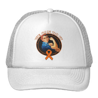Leukemia - Rosie The Riveter - We Can Do It Hats