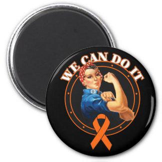 Leukemia - Rosie The Riveter - We Can Do It Fridge Magnet