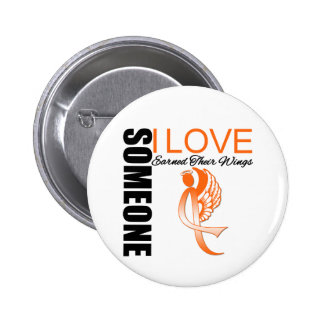 Leukemia Someone I Love Earned Their Wings 2 Inch Round Button