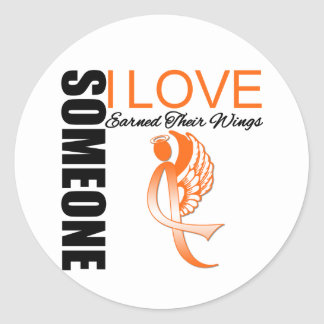 Leukemia Someone I Love Earned Their Wings Classic Round Sticker
