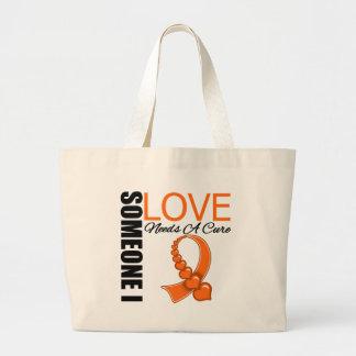 Leukemia Someone I Love Needs A Cure Large Tote Bag