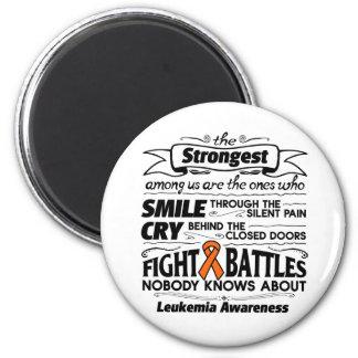 Leukemia Strongest Among Us 2 Inch Round Magnet