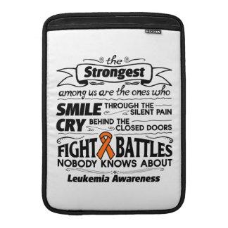 Leukemia Strongest Among Us MacBook Sleeve