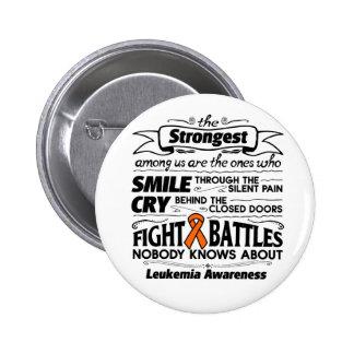 Leukemia Strongest Among Us Pinback Button
