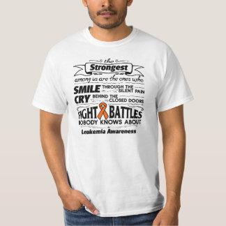 Leukemia Strongest Among Us Tee Shirt