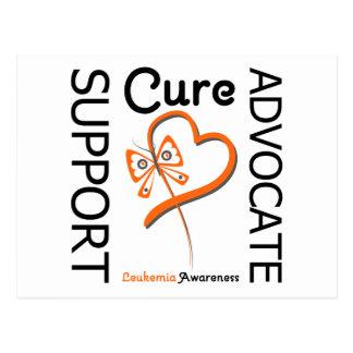 Leukemia Support Advocate Cure Postcard