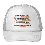 LEUKEMIA Supporting Admiring Honoring 3 Trucker Hat