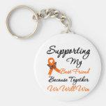 Leukemia Supporting My Best Friend Keychain