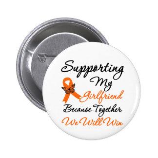 Leukemia Supporting My Girlfriend 2 Inch Round Button