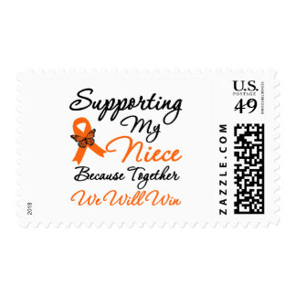 Leukemia Supporting My Niece Postage Stamp